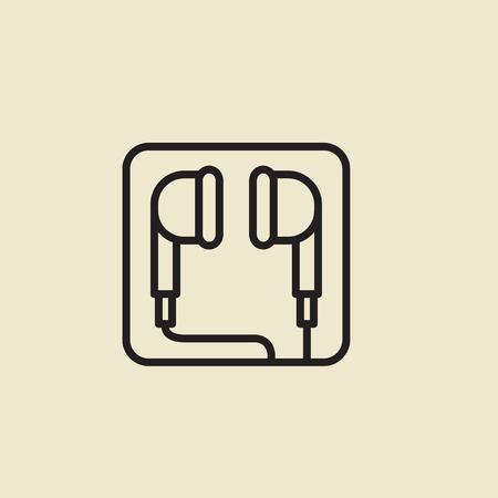 Vector of earphones icon.