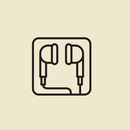 Vector of earphones icon.