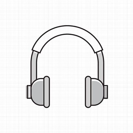 Vector of headphones icon. Illustration