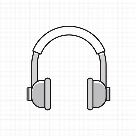 Vector of headphones icon. Ilustracja