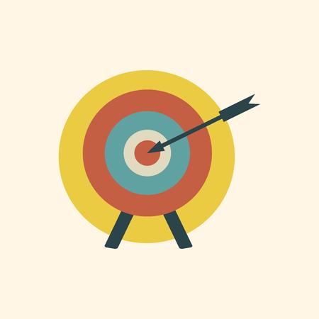 flecha en el objetivo
