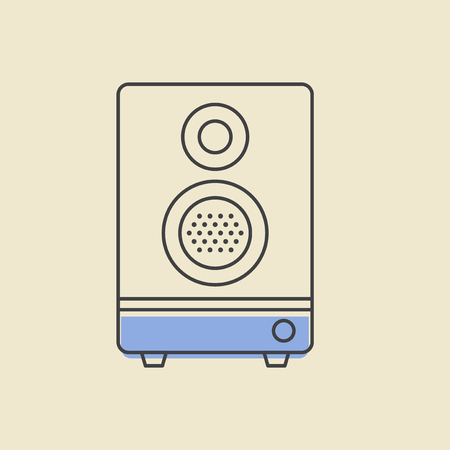 Speaker stereo icon vector illustration. Illusztráció