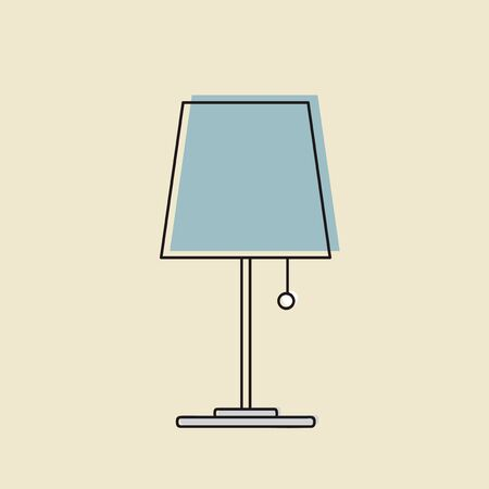 Vector of lamp icon.