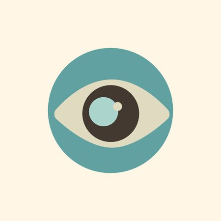 Eye View Icons Illustration.
