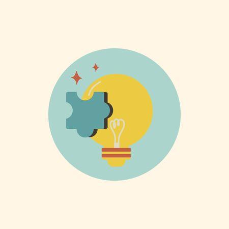 Illustration of lightbulb vector icon 向量圖像