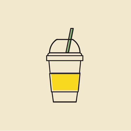 Vector of cold drink cup icon. Stock fotó - 86923780