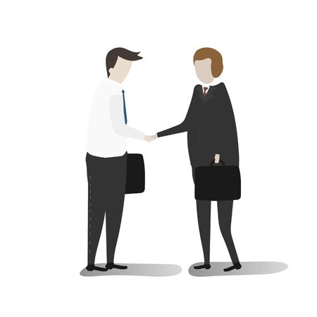 Illustration of business people vector set
