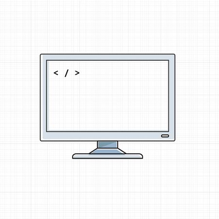Vector of computer digital device. Ilustracja