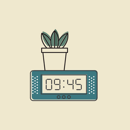 Vector of digital clock icon.