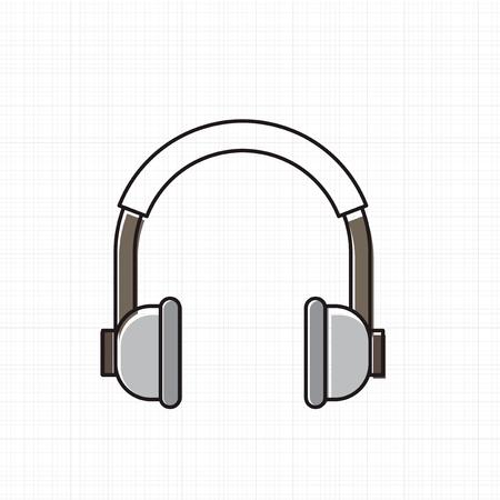 Vector van hoofdtelefoon pictogram.