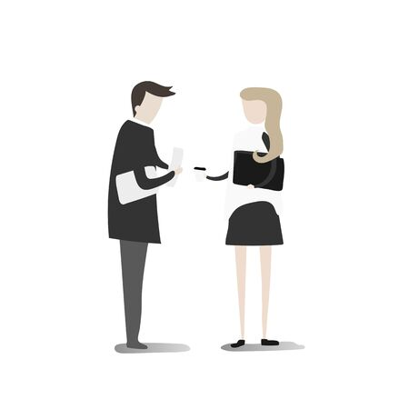 Illustration of business people Illustration