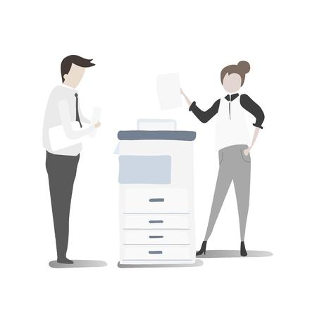Illustration of business people vector set