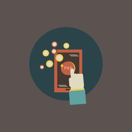 Illustration of online payment Illustration