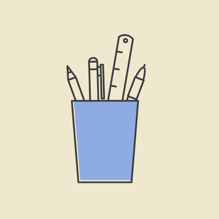 Vector of office supply icon 向量圖像