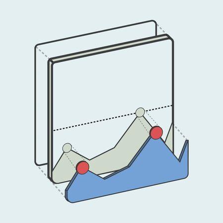 インフォグラフィック データ分析の図