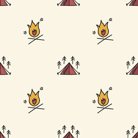 キャンプのアイコンの背景のスタイルを図面の図