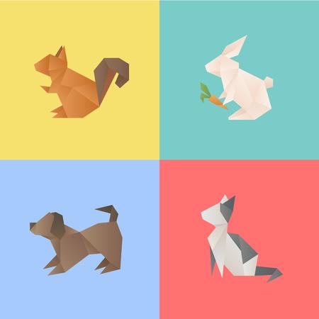 動物ベクトルイラストレーションの異なるタイプ。