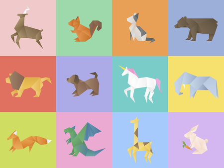 An animal collection set vector illustration. Иллюстрация