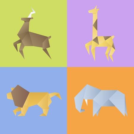 動物のコレクションは、ベクトル図を設定します。  イラスト・ベクター素材