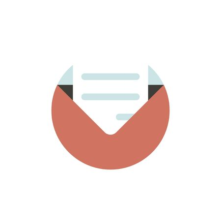 A vector of email icon on white background.