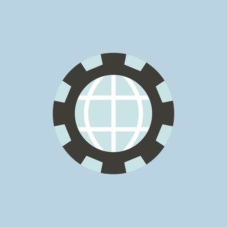 글로벌 아이콘의 벡터