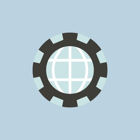 Vector of global icon