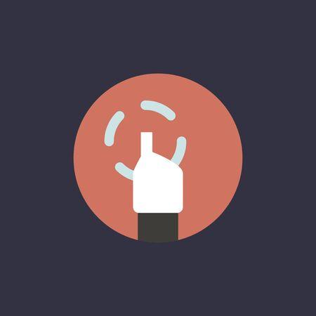Vector of hand cursor Illustration