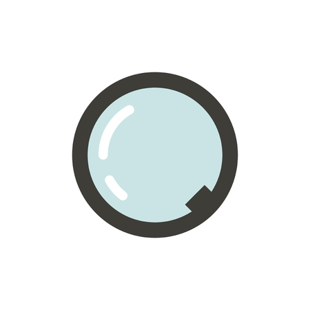 A vector of magnifying glass icon on white background. Illustration