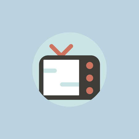 Vector of television