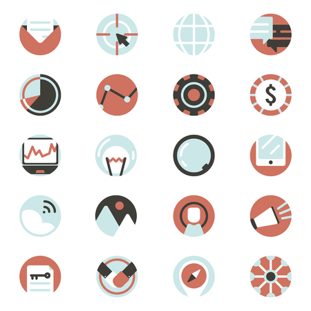 Vector set of digital marketing icons Illustration