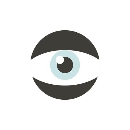 目のアイコンのベクトル