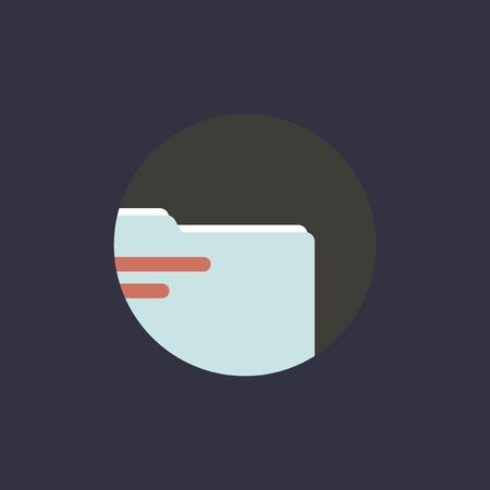 Illustration of folder icon Фото со стока - 87626436
