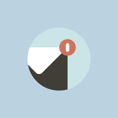 Vector of email notification icon Ilustrace