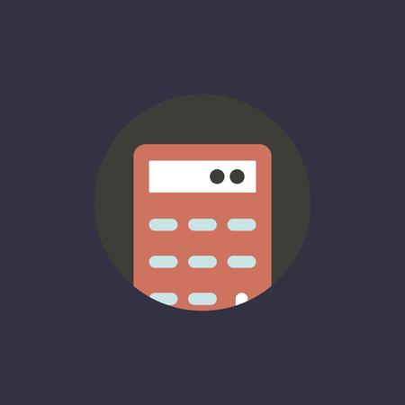 Vector of calculator icon Illustration