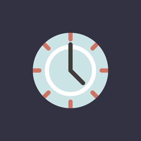 Vector van kloktijdpictogram Stock Illustratie