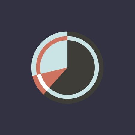 円グラフのベクトル