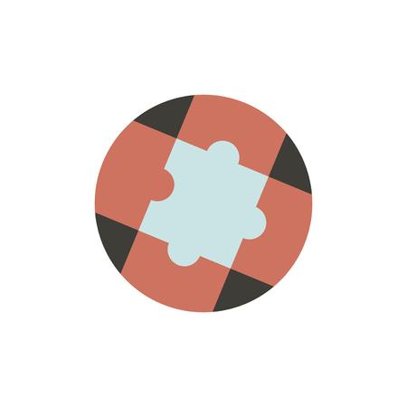 Vector of jigsaw Ilustração