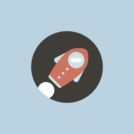 Vector of startup space ship icon Illustration