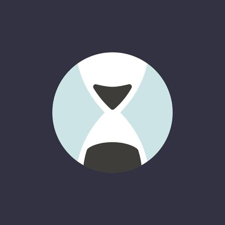 Vector of hourglass icon