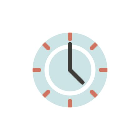 Vector of clock time icon Illustration