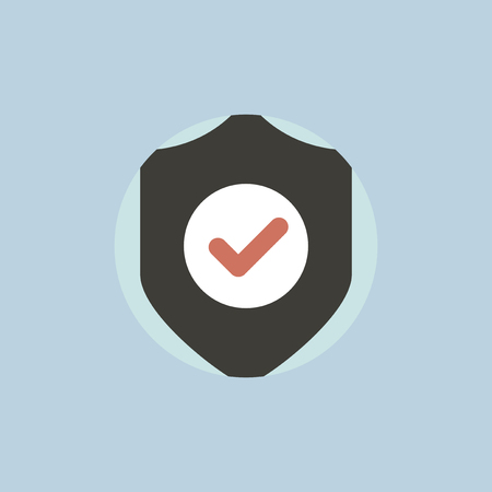 Vector of data protection shield icon