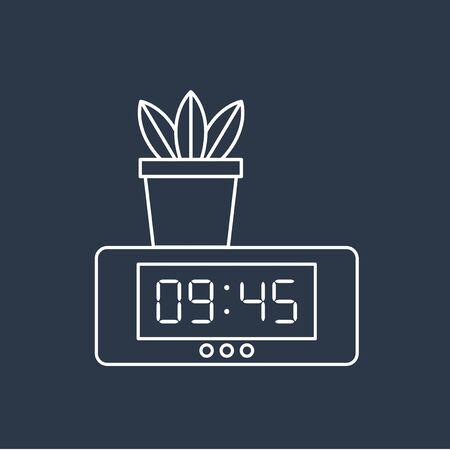 デジタル時計のアイコンのベクトル  イラスト・ベクター素材