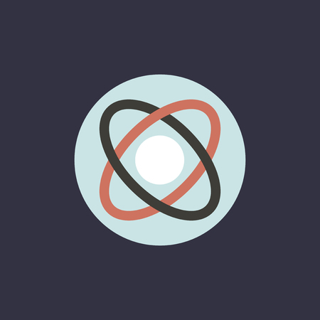 Vector of atomic obit icon