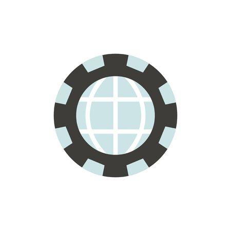 Vector of global icon Stock fotó - 87658858