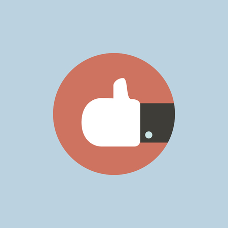 Thumbs up illustration. Çizim