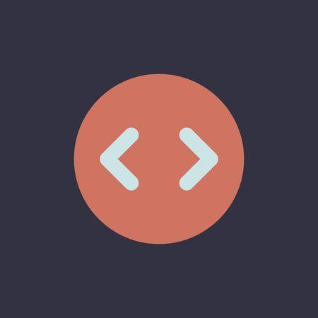 Computer code icon illustration.