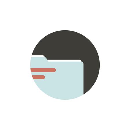Illustration of folder icon Illusztráció