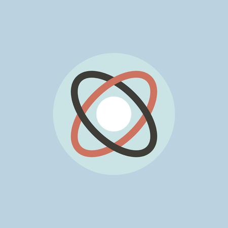 原子軌道のアイコン イラスト。  イラスト・ベクター素材