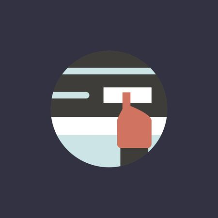 Hand cursor icon illustration.