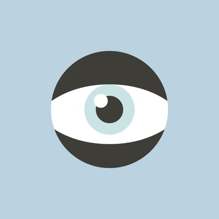 Eye icon illustration.